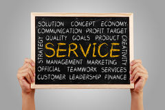 Service Word Cloud Royalty Free Stock Images