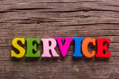 Service word made of wooden letters royalty free stock photos
