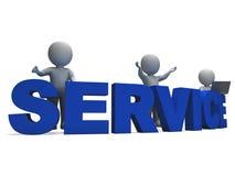Service Word montrant l'aide ou le helpdesk Photos libres de droits