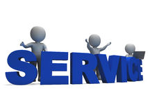 Service Word Showing Assistance Or Helpdesk Royalty Free Stock Photos