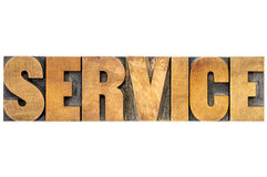 Service word in wood type Stock Image