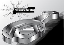 Service. wrench, hammer and screwdriver Royalty Free Stock Photos
