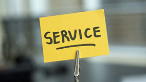 Service written Stock Photography