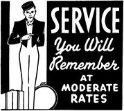Service You Will Remember Royalty Free Stock Photo