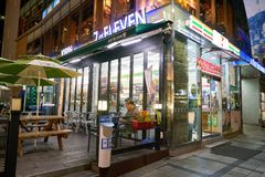 servicebutik 7-Eleven Royaltyfri Fotografi