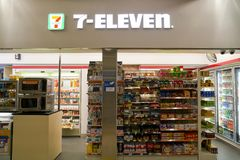 servicebutik 7-Eleven Royaltyfri Foto