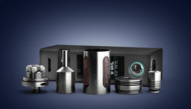 Serviced atomizer in disassembled form for soaring electronic ci Stock Images