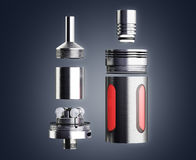 Serviced atomizer in disassembled form for soaring electronic ci Royalty Free Stock Photos