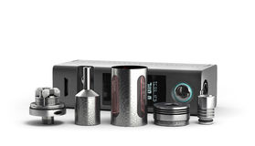 Serviced atomizer in disassembled form for soaring electronic ci Royalty Free Stock Photography