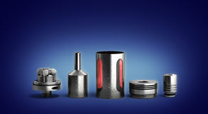Serviced atomizer in disassembled form for soaring electronic ci Stock Photography