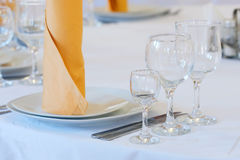 Serviced tables Royalty Free Stock Photos