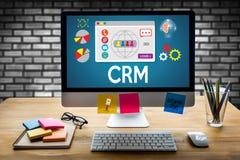 Servicekonzept CRM-Firmenkunde CRM-betriebswirtschaftlicher Auswertung, lizenzfreies stockbild