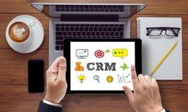 Servicekonzept Firmenkunde CRM-betriebswirtschaftlicher Auswertung lizenzfreies stockfoto