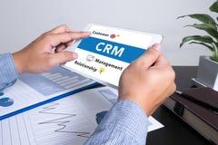 Servicekonzept Firmenkunde CRM-betriebswirtschaftlicher Auswertung lizenzfreies stockbild