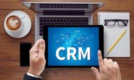Servicekonzept Firmenkunde CRM-betriebswirtschaftlicher Auswertung stockbild