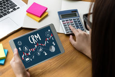 Servicekonzept Firmenkunde CRM-betriebswirtschaftlicher Auswertung, Cust lizenzfreie stockfotos