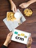 Servicekonzept Firmenkunde CRM-betriebswirtschaftlicher Auswertung, Cust stockfotos