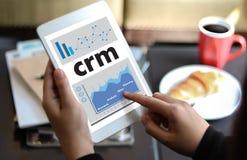Servicekonzept Firmenkunde CRM-betriebswirtschaftlicher Auswertung, Cust lizenzfreies stockfoto