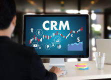 Servicekonzept Firmenkunde CRM-betriebswirtschaftlicher Auswertung, Cust lizenzfreie stockbilder