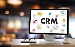 Servicekonzept Firmenkunde CRM-betriebswirtschaftlicher Auswertung handhaben stockbilder