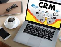 Servicekonzept Firmenkunde CRM-betriebswirtschaftlicher Auswertung handhaben stockfotos