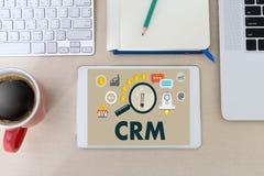 Servicekonzept Firmenkunde CRM-betriebswirtschaftlicher Auswertung handhaben lizenzfreies stockfoto