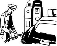 Serviceman Filling Car Royalty Free Stock Image