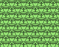Serviceman pattern. Seamless pattern of the flat cartoon servicemans Royalty Free Stock Photography