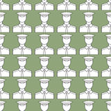 Serviceman pattern. Seamless pattern of the serviceman icons Stock Images