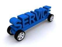 Servicemeddelande på hjul Arkivbild
