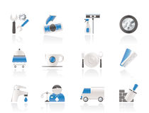 Services and business icons Royalty Free Stock Photography