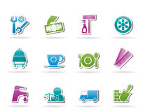 Services and business icons Royalty Free Stock Photo