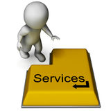 Services Button Showing Assistance Or Maintenance. Services Button Showing Assistance Repair Or Maintenance Royalty Free Stock Image
