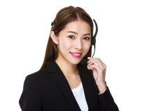 Services client représentatifs Photo stock