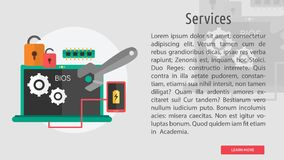Services Conceptual Design. Great flat design illustration concepts for business, finance, marketing and much more Stock Photos