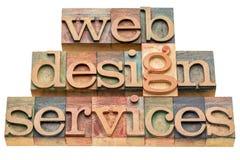 Services d'esthétique industrielle de Web Photographie stock libre de droits