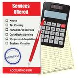Services de cabinet comptable Images stock