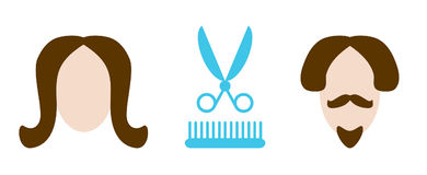 Services de coiffure Image libre de droits