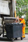 Services de réutilisation urbains de déchets et de déchets Images stock