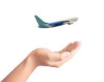 Services de transport aérien pour le déplacement Photos libres de droits