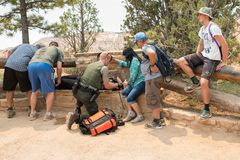 Services des urgences chez Bryce Canyon National Park Image stock