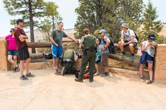 Services des urgences chez Bryce Canyon National Park Photo stock