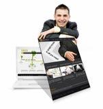Services en ligne images stock