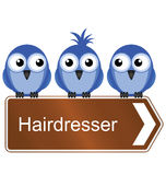 Services of a hairdresser Stock Photos