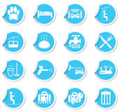 Services icon set Stock Photos