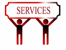 Services illustration Royalty Free Stock Photo