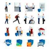 Services Of Insurance Company Icons Set Stock Photos