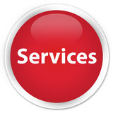 Services premium red round button Royalty Free Stock Image