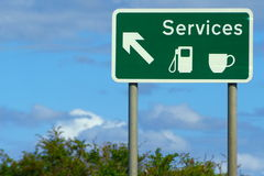 Services Road Sign Stock Image