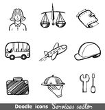 Services sector icons Stock Photos
